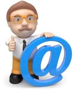 email man, branding